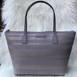 Kate spade haven lane glitter tote bag